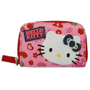 Sanrio Hello Kitty Pink Zip Around Wallet  Denim Bow