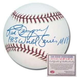 Rick Dempsey Baltimore Orioles Hand Signed Rawlings MLB Baseball with