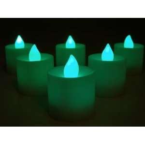 Set of 10 Green Tea Lights Case Pack 10