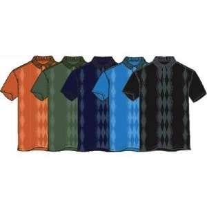 Greg Norman Argyle Body Mapped Golf Polo Shirt Sports