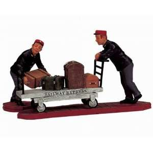 Village Collection Baggage Handlers Figurines #12508
