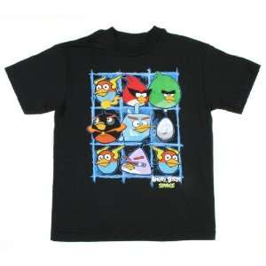 Angry Birds Space Character Grid Boys Shirt Size8