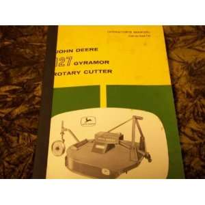 John Deere 127 Gyramor Rotary Cutter OMW11087W OEM OEM Ownerss Manual