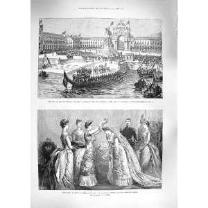 1888 KING SWEDEN LISBON CAES COLUMNAS PRINCESS IRENE