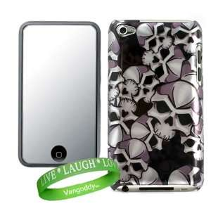 Premium Skull Design Hard Cover for iTouch 4 Snap on Case