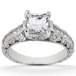 Eye catching Antique Princess Cut Diamond Ring in 18K