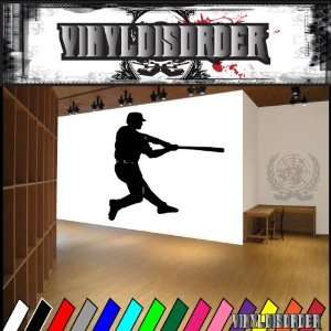 Baseball Swinging Ball Bball Sport Sports Vinyl Decal