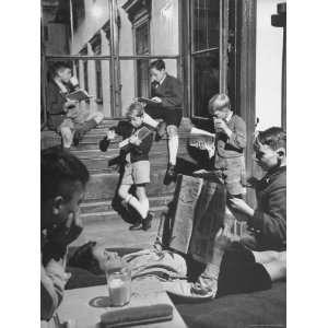 Vienna Boys Choir Members Taking a Break and Drinking Powdered Milk