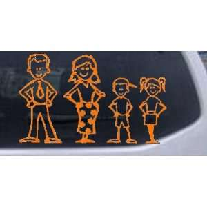 Orange 20in X 32.8in    Stick Family Stick Family Car Window