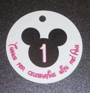 20 MICKEY MOUSE Birthday Favor Tags   Gift Tags