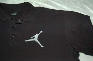 RETRO JORDAN BIG JUMPMAN POLO SHIRT black men 2XL air force dunks