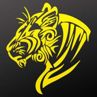 Vinyl Decal Sticker helmet Lion Tiger Wild Cat ZZ9XR