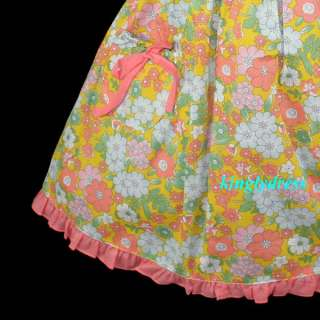 NEW Girls Spring Summer Flowers Dress Wears Children Outfit Clothes