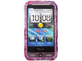 PINK BLING DIAMOND FACEPLATE CASE COVER HTC FREESTYLE