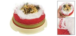 Xmas Wedding Lacing Top Red White Round Roll Cake Towel Gift