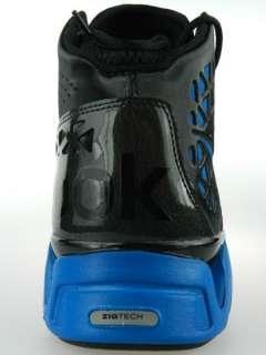 SLASH NEW Mens John Wall Zigtech Blue Black Basketball Shoes