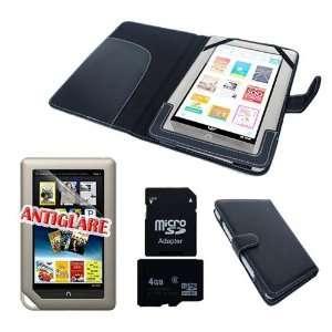 SKQUE PREMIUM BLACK LEATHER CASE+4GB MICRO SD MEMORY CARD