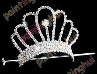 FREE Wedding/Bridal swarovski crystal veil tiara crown