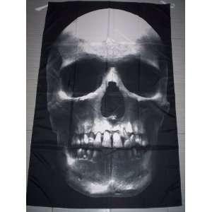 HUMAN SKULL BONES 5x3 Feet Cloth Textile Fabric Poster