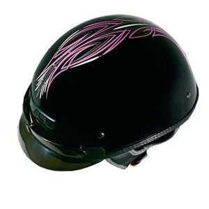 Vega XTS Pinstripe Helmet   Medium/Pink Pinstripe