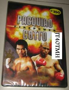 MANNY PACQUIAO vs COTTO FIREPOWER ORG DVD BOXING REG 0