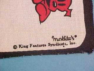 VINTAGE BLONDIE & DAGWOOD 2 DISH TOWEL KING FEATURES