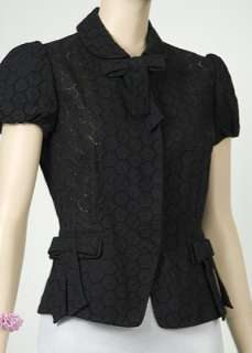 New Blumarine Eyelet S/S Womens Shirt Black Size 48