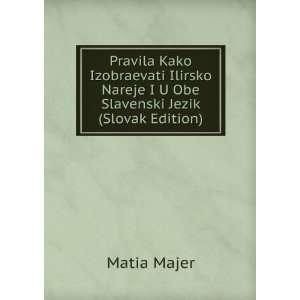 Nareje I U Obe Slavenski Jezik (Slovak Edition) Matia Majer Books
