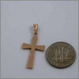 Solid rose Russian Gold Cross Pendant 14k 1,62g A