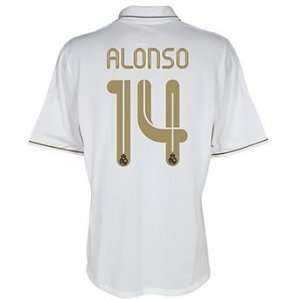 #14 Alonso Real Madrid Home Shirt Soccer Jersey 2011/12