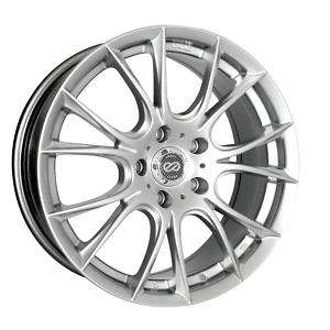 17 ENKEI AMMODO SILVER RIMS WHEELS 17x7.5 +42 4x100 FIT