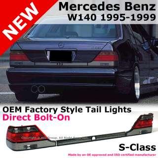 Mercedes Benz W140 S Class 95 99 OEM Factory Style Smoke Tail Brake