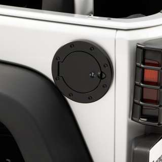 Locking Fuel Door. 2007 2011 Jeep Wrangler JK  Black
