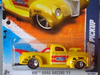 Hot Wheels 2011 Drag Racers Series 40 Ford Pickup Truck NEW Yellow
