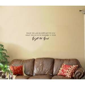 God Vinyl wall art Inspirational quotes and saying home decor decal