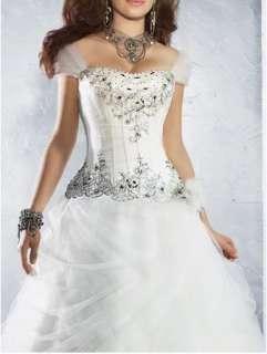 Bridal wedding dress/formal dress/ball gown/off the shoulder