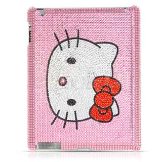 PINK HELLO KITTY CRYSTAL DIAMOND BLING CASE FOR iPAD 2