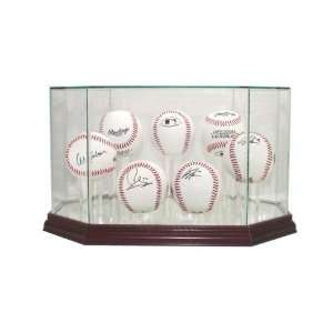Display Case with Cherry Wood Molding (7 Ball) Sports & Outdoors