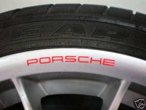PORSCHE RED WHEELS RIMS STICKER DECAL LOGO 911 BOXTER S