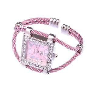 Pink Stylish Fashion Lady Women Girl Roman Numerals Dial