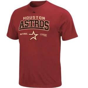 Majestic Houston Astros Brick Red Built Legacy T shirt