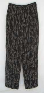 COLDWATER CREEK Size Small Black Beige Lined Slinky Dress Pants