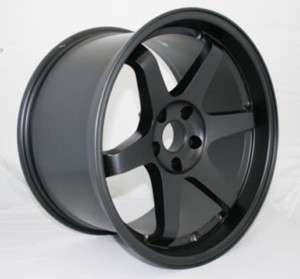 17X9 VARRSTOEN BLACK WHEELS FIT 4 LUG NISSAN 240SX S14
