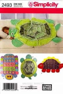 Simplicity Pattern 2493 Rag Quilts Dinosaur Turtle 039363524939