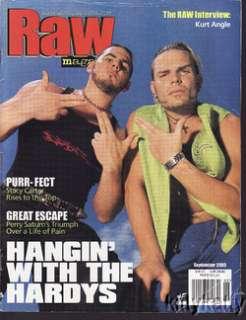 WWE WWF RAW MAGAZINE HARDYS 2000 w STACY CARTER POSTER