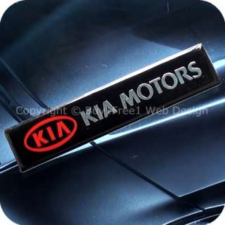 2752b1f1 kia motors aluminium alloy metal resin 3d chrome car plate