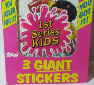 1986 GARBAGE PAIL KIDS SERIES 1 KIDS Giant Stickers Box Set 35 Packs