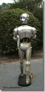Wars Fans collectibles love Butler Statue WOW LIFESIZE Robot silver