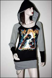 Def Lappard Metal Rock DIY Funky Tunic Hoodie Top Dress