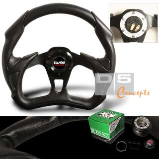 1995 1999 MIT ECLIPSE BLACK BATTLE STEERING WHEEL+HUB